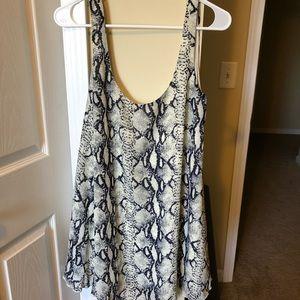 Snakeskin dress from tobi!